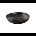 Bord diep 22 cm Metallic groen