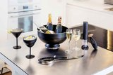 Cocktailglas martini 35 cl zwart rvs