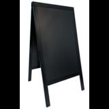 Stoep krijtbord 120 x 70 cm zwart_