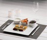 Bord vierkant met 3 vierkant spiegels 30 cm Q Fine China_