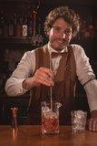 Cocktail lepel koper 32 cm_