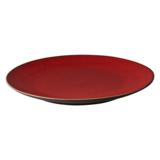 Bord 27 cm rood/bruin Lava Palmer_