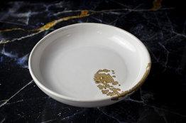 24 Karaat goud belegd diep bord 21 cm