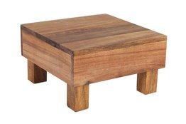 Houten blok Acacia 18 x 18 x 10 cm