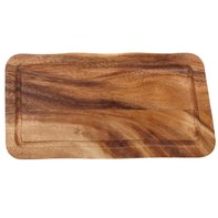 Houten plank met gleuf 40 x 22 cm Acacia