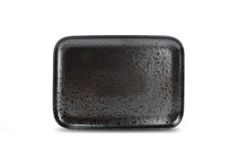 Bord rechthoekig 28 x 20 cm Oxido zwart