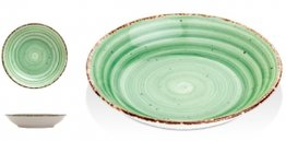 Gural Ent Diep Bord Groen 20 cm