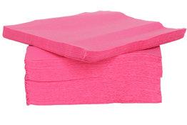 Servetten 40st 25x25cm roze