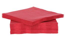 Servetten 40st 25x25cm rood