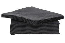 Servetten 40st 25x25cm zwart