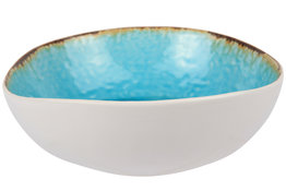 Laguna Azzuro slakom 19 cm blauw wit