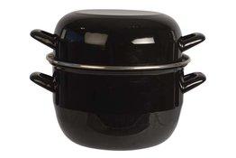 Mosselpan horeca 2 kg zwart 20 cm