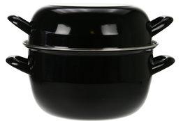 Mosselpan horeca 4 kg zwart 24 cm