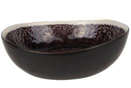Kom 21 cm Laguna Viola zwart donkerpaars