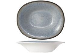 Diep bord ovaal 17,5 x 21,5 cm Fez Blue