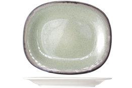Dessertbord ovaal 19,5 x 23,5 cm Fez Green