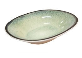 Diep bord ovaal 17,5 x 21,5 cm Fez Green