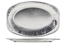 Schotel 55 cm ovaal aluminium set 10 stuks