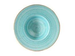 Pasta bord 28 cm brede rand Aqua Aura