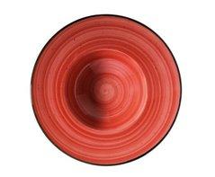 Pasta bord 28 cm brede rand Passion Red Aura