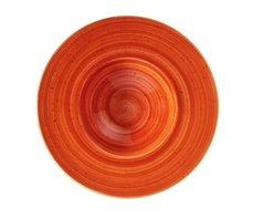 Pasta bord 28 cm brede rand Terracotta Aura