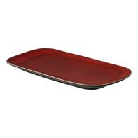Schaal 29,5 x 14,5 cm rood Lava Palmer