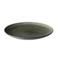 Bord 26 cm bruin/mat zwart Asia Palmer