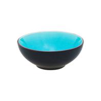 Schaaltje 12 cm turquoise/mat zwart Asia Palmer