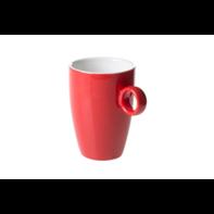 Beker 23 cl rood Bart Maastricht Porselein