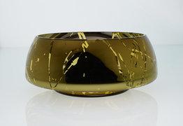 Schaal mondgeblazen 32 cm goud An&Angel