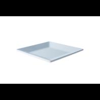 Bord 18,5 cm vierkant wit melamine