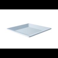 Bord 21 cm vierkant wit melamine