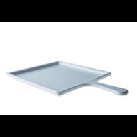 Bord 21 cm vierkant met greep wit melamine