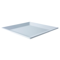 Bord 26,5 cm vierkant wit melamine