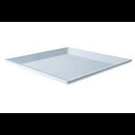 Bord 30,5 cm vierkant wit melamine