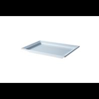 Bord 30x21 cm rechthoek wit melamine