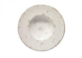 Pasta bord 28 cm brede rand Beige Grain Aura