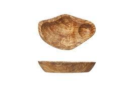 Bord olijfhout 14cm