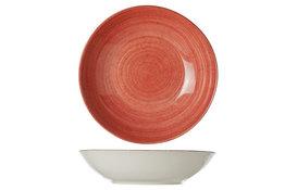 Diep bord 21 cm Twister Red