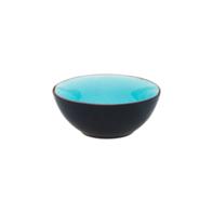 Schaaltje 9 cm turquoise/mat zwart Asia Palmer