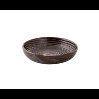 Schaal diep 15 cm Metallic bruin