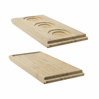 Presentatiebord bamboe met 3 spiegels Twist & Serve