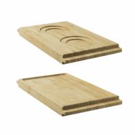 Presentatiebord bamboe met 2 spiegels Twist & Serve