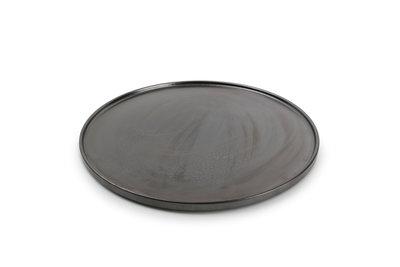 Bord plat rond 31 cm Yong Verso Black stapelbaar