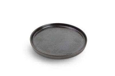 Bord plat rond 24 cm Yong Verso Black stapelbaar