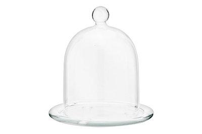 Schaaltje met stolp glas 14 x 16 cm