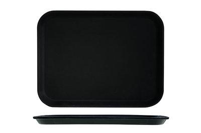 Dienblad 41 x 30 cm fiberglas zwart