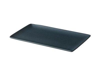 Bord rechthoekig 19 x 33,5 cm Tinto mat donkergrijs