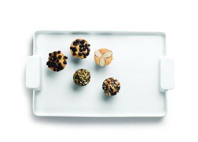 Porseleinen bord met handvatten 390mm