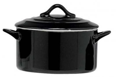 Ovenschotel Black - rond met deksel ∅125mm